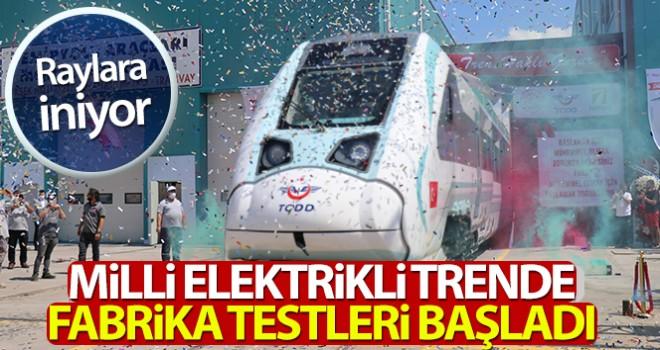 Milli trenin ilk sürüşü Cumhurbaşkanı tarafından yapılacak