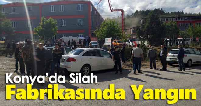 Silah fabrikasında çıkan yangın itfaiye ekiplerince söndürüldü