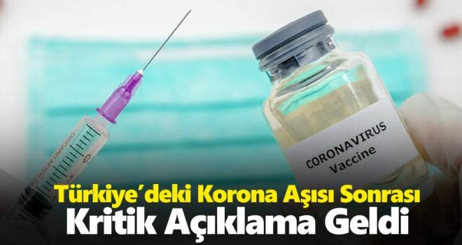 Türkiye'deki korona aşıları sonrası ilk açıklama! '6 ay korursa durdurulabilir'