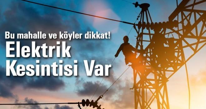Karaman'da köy ve mahallelerde elektrik kesintisi olacak!