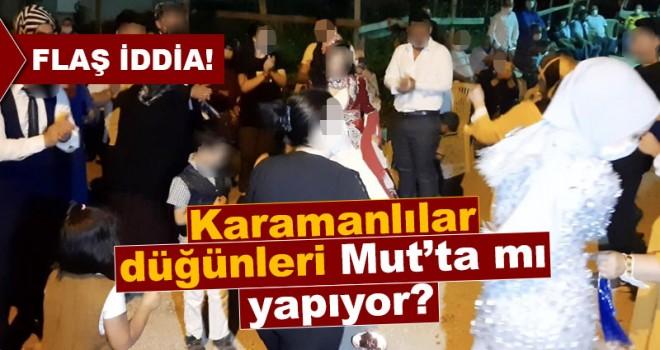 Karamanlı çiftlerin düğün telaşı, Mut halkını endişeye düşürdü