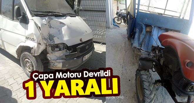 Çapa motoruyla kaza yapan çiftçi yaralandı