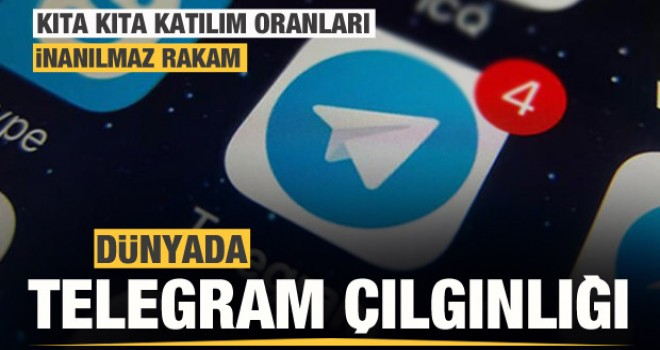 Dünya Whatsapp'ı siliyor! Telegram çılgınlığı! İşte bölge bölge katılım oranları...