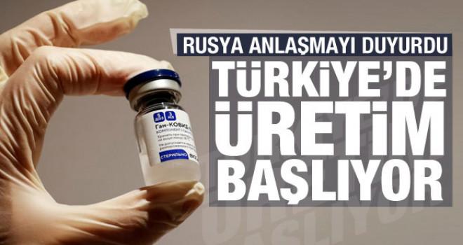 Anlaşma sağlandı! Rus aşısı Sputnik-V Türkiye'de üretime başlıyor