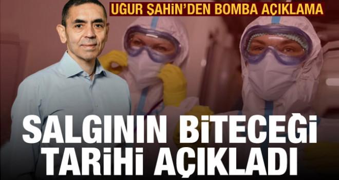Uğur Şahin koronavirüs pandemisinin sona ereceği tarihi açıkladı