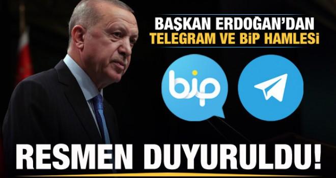 Başkan Erdoğan'dan Telegram ve BİP hamlesi! Resmen duyuruldu