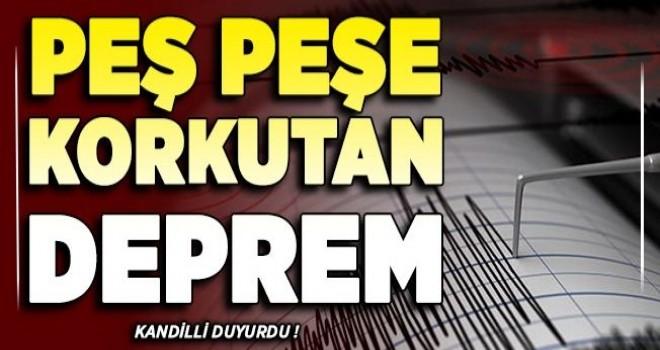 Konya'da peş peşe korkutan depremler!