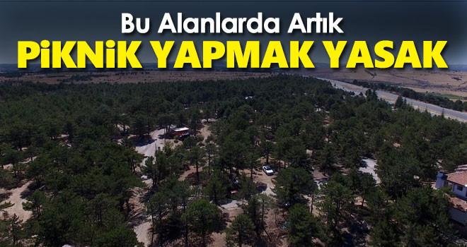 Karaman'da ormanlık alanların bir kısmı girişe kapatıldı