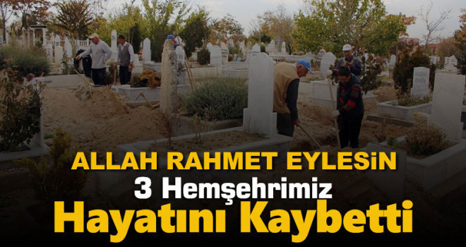 12 Ekim Karaman'da vefat edenler