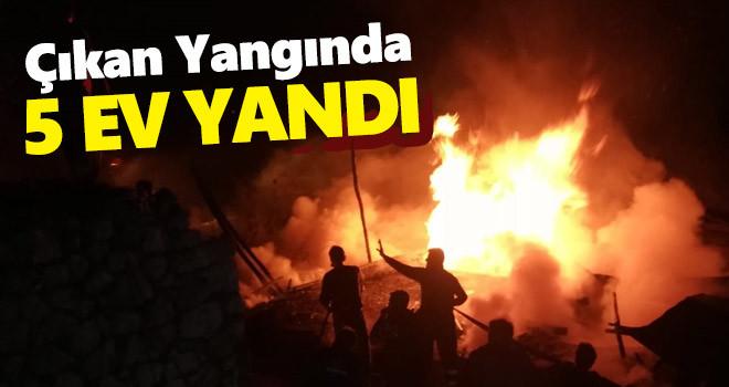 Karaman'da Ev Yangını! 5 Ev Yandı
