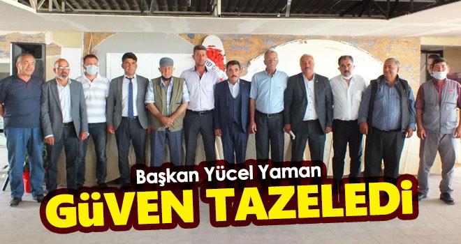 Karaman DKKY Birlik Başkanı Yücel Yaman güven tazeledi