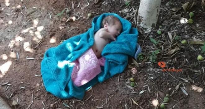 Antalya'da cami avlusuna bebek bırakıldı