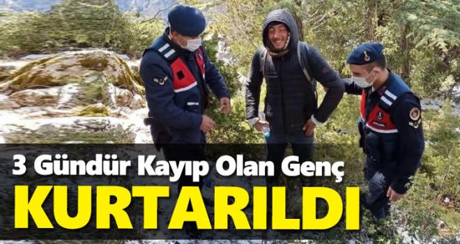 Karaman'da kaybolan genç kurtarıldı
