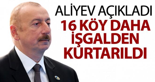 Azerbaycan'da 16 köy daha işgalden kurtarıldı