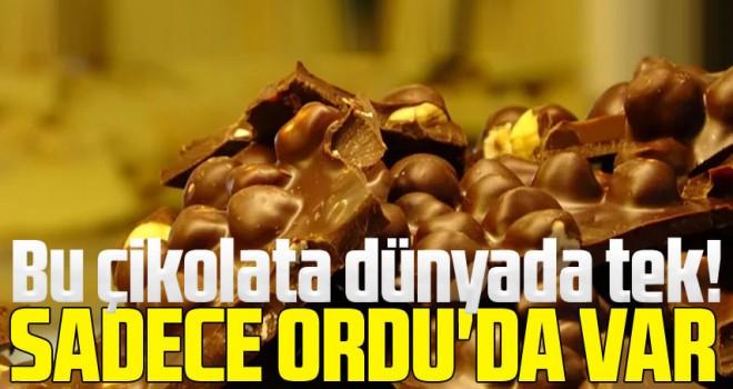 Bu çikolata dünyada tek! Ordu çikolatası...