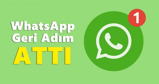 WhatsApp tepki çeken özelliği için geri adım attı!
