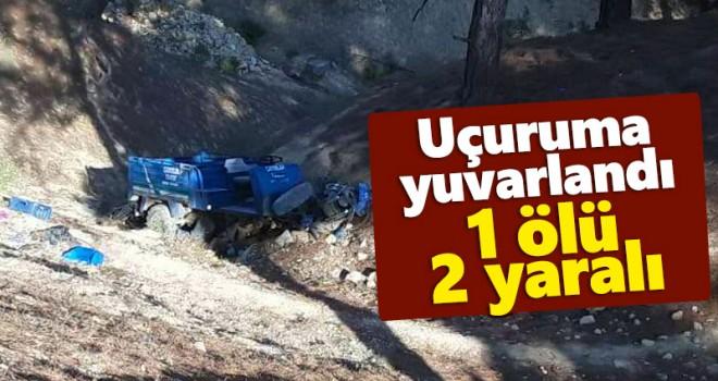 Karaman'da tarım aracı devrildi 1 kişi öldü, 2 kişi yaralandı