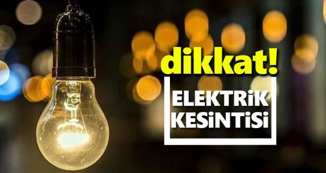 Karaman merkez mahallelerinde elektrik kesintisi olacak