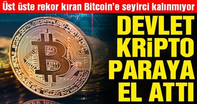 Devlet kripto paraya el attı