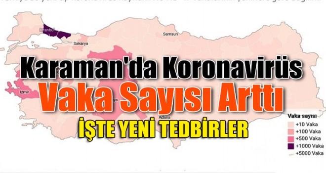 Karaman'da Vaka Sayısı Arttı Yeni Tedbirler Alındı