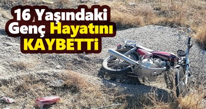 Konya'da şarampole devrilen motosikletin sürücüsü yaşamını yitirdi