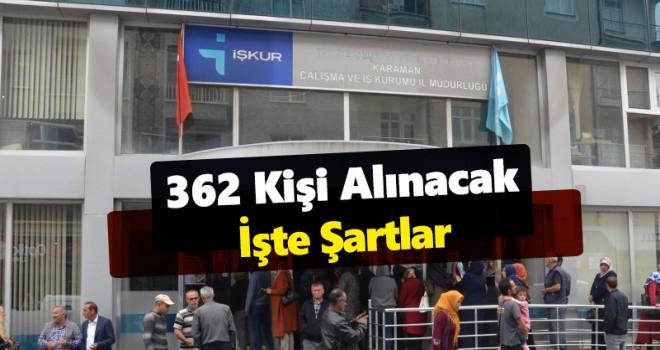 Karaman İŞKUR'dan 362 Kişilik TYP İşçisi Alımı Duyurusu