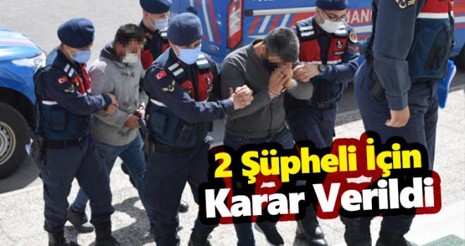 2 şüpheli adli kontrol şartıyla serbest bırakıldı