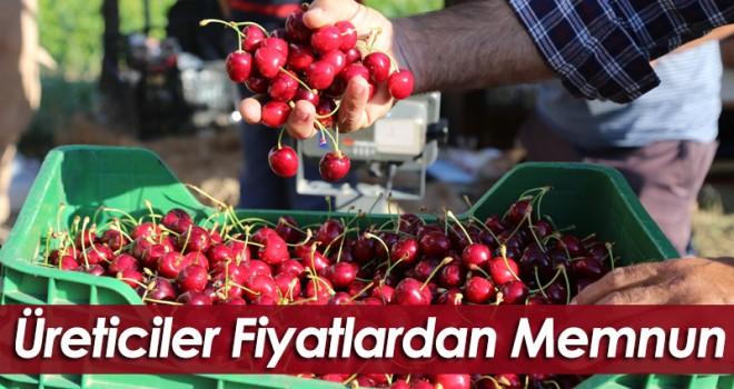 Karaman'da kiraz üreticileri fiyatlardan memnun