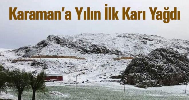 Karaman'da mevsimin ilk kar yağışı