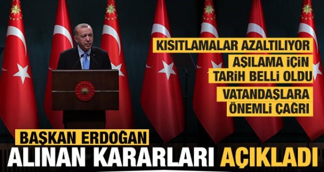 Kabine toplantısının ardından Başkan Erdoğan alınan kararları açıkladı