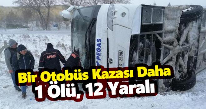 Konya'da tur otobüsü devrildi: 1 ölü, 12 yaralı