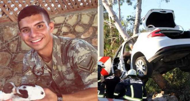 Suriye'den izne gelen sözleşmeli er, kazada yaşamını yitirdi