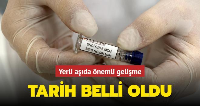 Yerli inaktif Kovid-19 aşısında tarih belli oldu