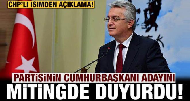CHP'den flaş açıklama: Partisinin Cumhurbaşkanı adayını duyurdu!