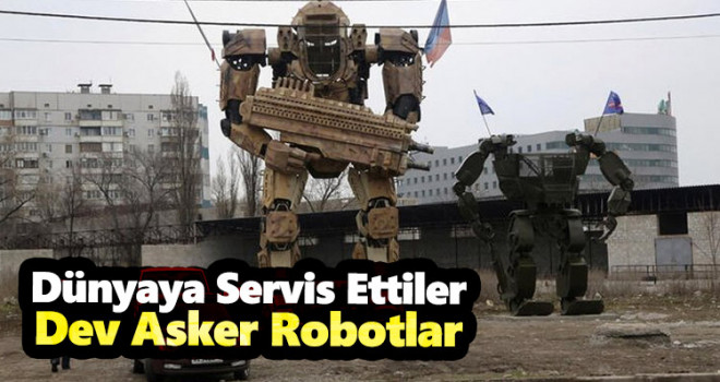 Rusya Ukrayna savaşından! Dev Robot Asker...