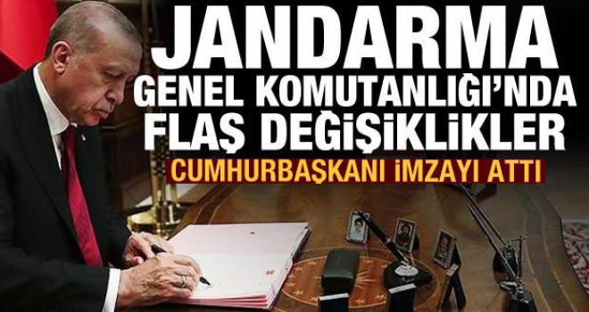 Erdoğan imzayı attı! Jandarma Genel Komutanlığı'nda flaş değişiklikler