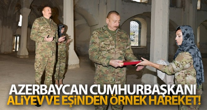 Azerbaycan Cumhurbaşkanı Aliyev ve eşinden örnek hareket