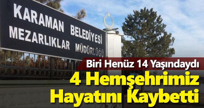 30 Mayıs Karaman'da vefat edenler