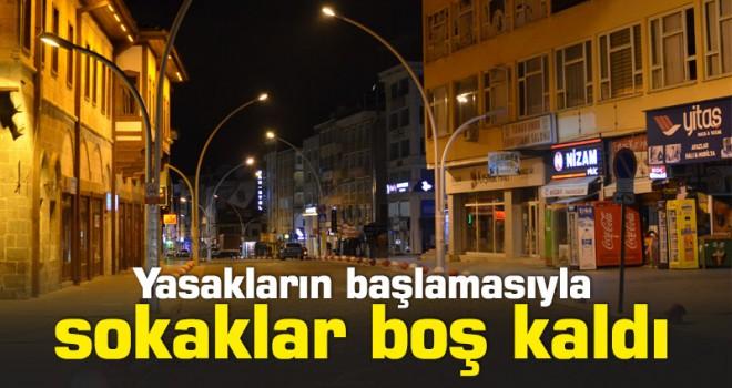 Karaman'da sokağa çıkma kısıtlamasına uyuluyor