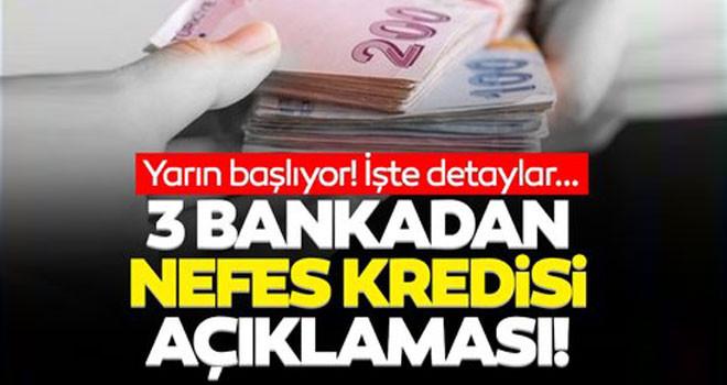 3 kamu bankasından kredi açıklaması! Yarın başlıyor