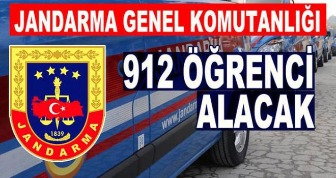 Jandarma Genel Komutanlığına 912 öğrenci alınacak