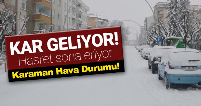 Yoğun Kar Yağışı Geliyor! Karaman Hava Durumu