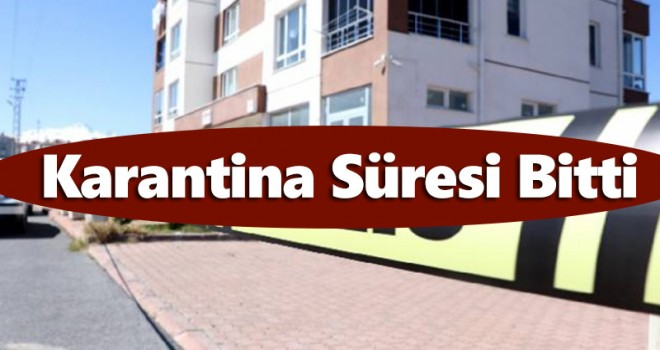 Karaman'da bir binadaki karantina kaldırıldı