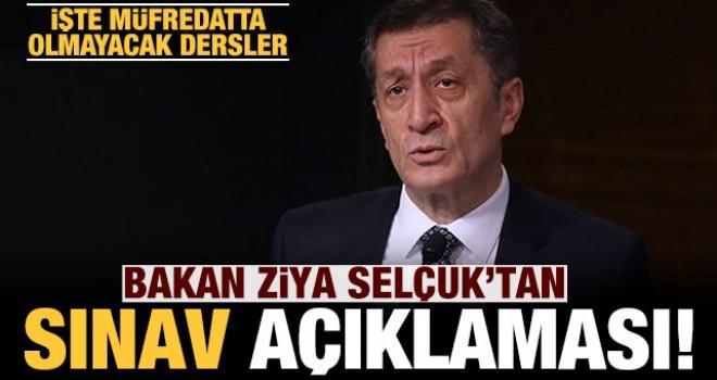 Bakan Selçuk'tan sınav açıklaması!