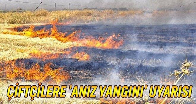 Tarım İl Müdürlüğü Anız Yangınlarına Karşı Uyardı