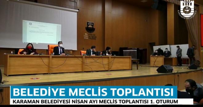 Karaman Belediyesi Nisan Ayı Meclis Topantısı