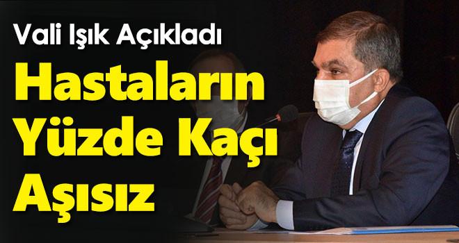 Vali Işık açıkladı: Karaman'da hastaneye yatanların yüzde kaçı aşısız