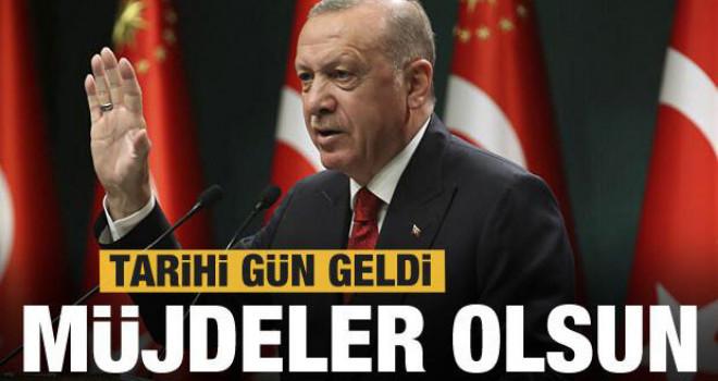 Cumhurbaşkanı Erdoğan müjdeleri bugün açıklayacak