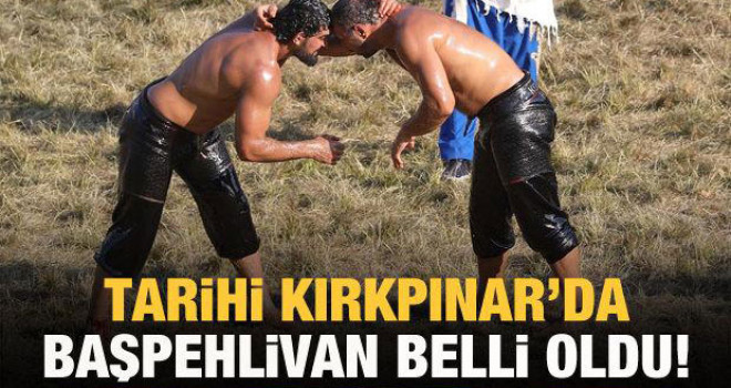 Tarihi Kırkpınar'da başpehlivan Ali Gürbüz oldu!