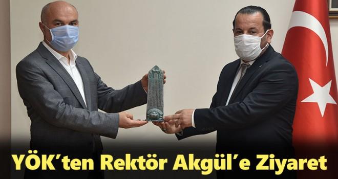 YÖK'ten Rektör Akgül'e Ziyaret